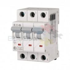 Автоматический выключатель Eaton HL-C25/3 3Р 25А тип C 4.5 кА