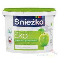 Sniezka EKO Гипоаллергенная акриловая краска для стен и потолков снежно-белая 1.4 кг