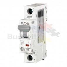 Автоматический выключатель Eaton HL-C25/1 1Р 25А тип C 4.5 кА