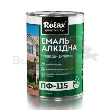 ROLAX  Эмаль алкидная ПФ-115 тем.зелена 0,9 кг