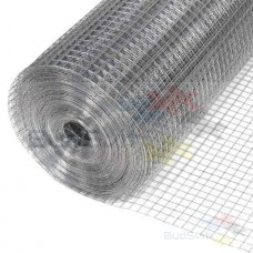 Сетка сварная (оцинкованная)  20 х 20 мм / Ø 1,0 мм / h = 1,0 м
