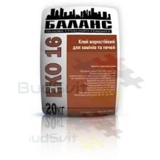 Баланс «ЕКО 16» - клей жаростойкий для каминов и печей 20 кг