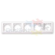 Рамка пятерная горизонтальная, Gunsan Visage