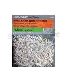 Крестики 1,5 мм, 200 шт. FAVORIT