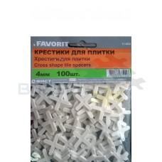Крестики 4 мм, 100 шт. FAVORIT